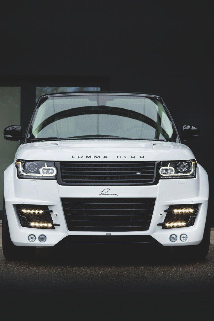 Custom white range rover by lumma