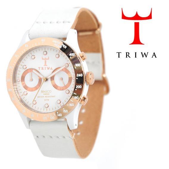 TRIWA(トリワ)×Tarnsjons レザー リストウォッチ 腕時計 ホワイト【送料無料】 wc-triwa-047