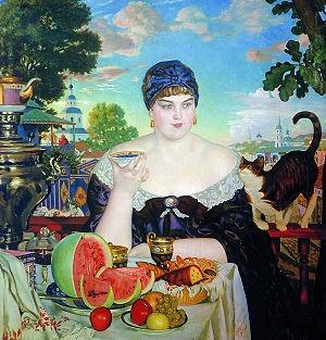 "Boris Kustodiev...""The Merchants Wife"" 1918"