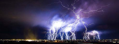 A specialist in lightning photography stalks a Jerome storm--or is it the other way around?