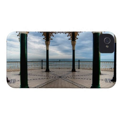 "A Stand for a Band :- A shot of the English Channel as seen from the old Victorian Bandstand on Brighton seafront, England. Recently restored the ""Birdcage"" is regarded as one of the finest examples of a Victorian bandstand still surviving in England. Cover For The iPhone 4. #iPhone4 #victorian #bandstand #architecture #seafront #coastal #brighton #england #iron #metal #ornate #grand"