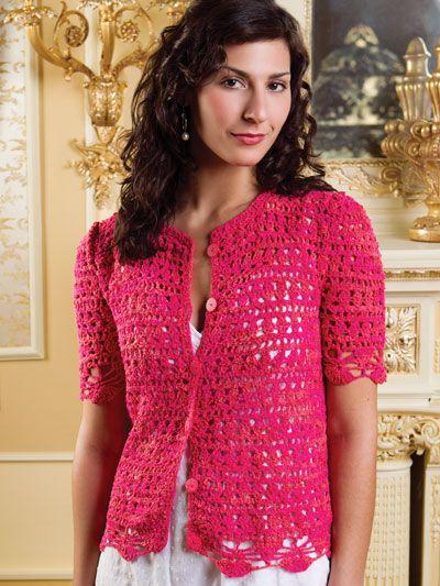 Strawberry Fields Cardigan Crochet Pattern Download From E
