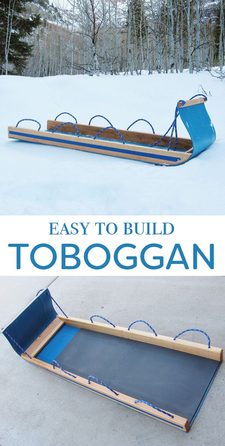 Build a simple toboggan this winter from a plastic barrel.