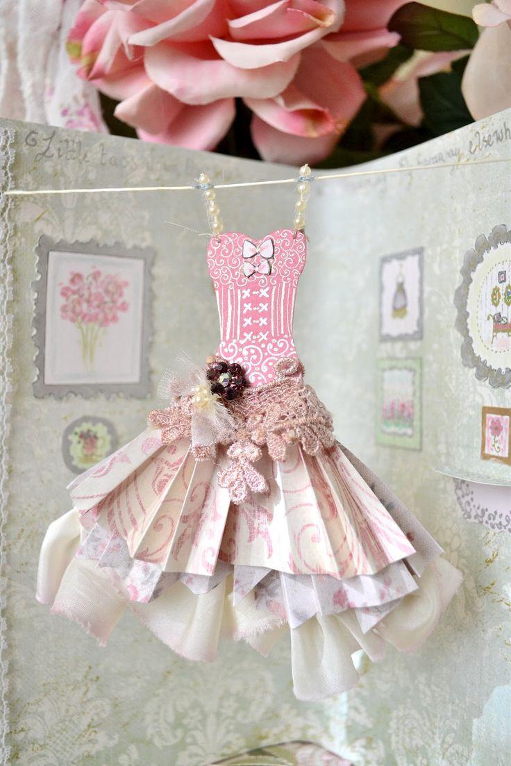 Лет, открытка в виде платья для девочки