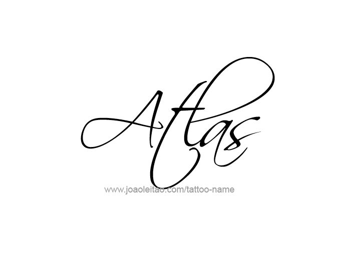 Tattoo Design City Name Atlas