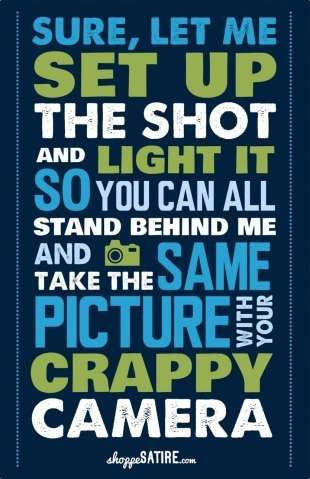 Sarcastic Photographer Comeback Posters - This Snappy Poster Collection is Blatantly Witty (GALLERY)
