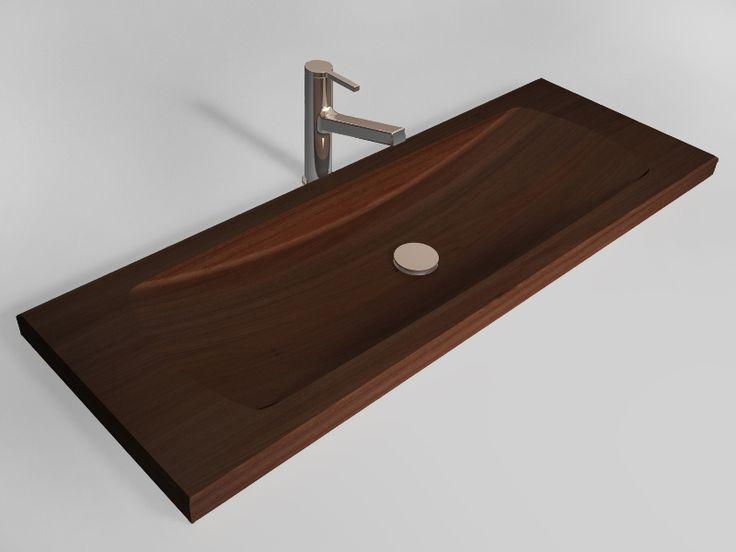 Stylish and Luxury Wooden Washbasin : Elegant Wooden Washbasin With Wall Mounted Design