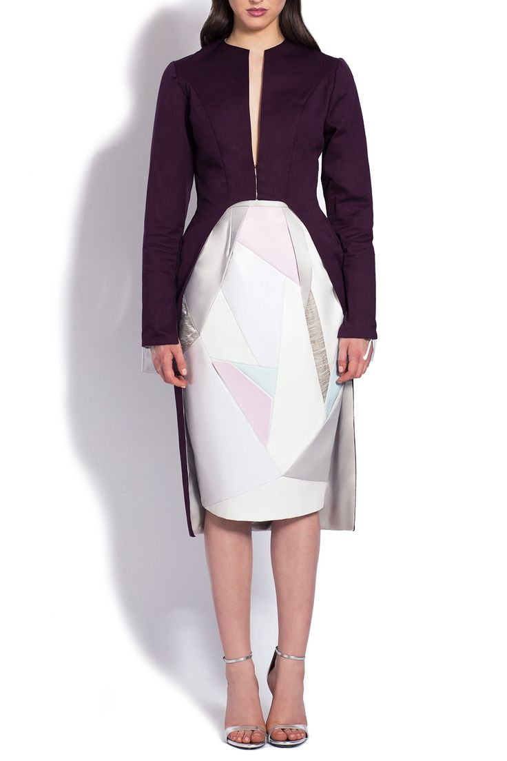 Jacheta vascoza violet croiala asimetrica