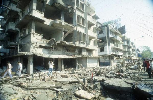 1993 :: Bomb Blasts in Bombay  #historypics #history #historyimages #historypictures The 1993 Bombay bombings were a series of 13 bomb explosions that took place in Mumbai, Maharashtra, India on Friday, 12 March 1993. The coordinated attacks were the most destructive bomb explosions in Indian history. This was first of its kind serial-bomb-blasts across world. The single-day attacks resulted in over 350 fatalities and 1200 injuries.