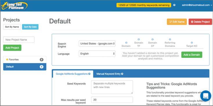 Bestes Keyword-Recherche-Tool für SEO in jeder Nische: Ausgabe 2019