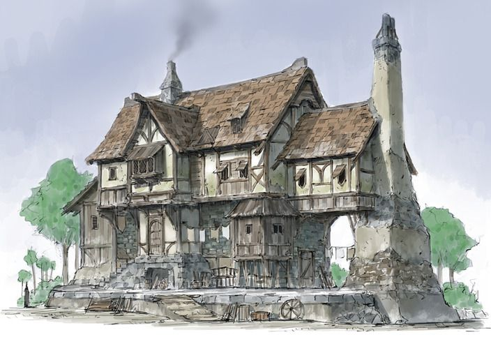the Middle Age houses by HeNN - HeNN - CGHUB via PinCG.com