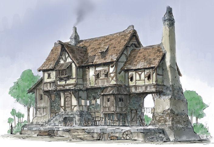 the Middle Age houses by HeNN - HeNN - CGHUB via PinCG.com