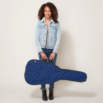 Barnacles in Blue Acoustic Guitar Bag Case - modern gifts cyo gift ideas personalize