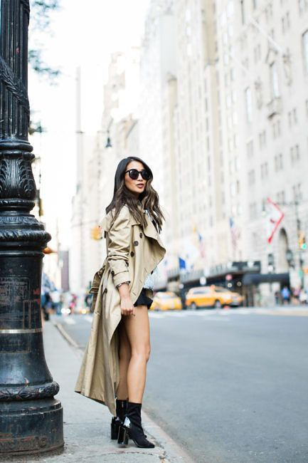 New York Minute :: Cap toe bootie & Long trench