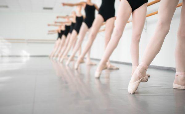 young dancers ballerinas in class classical dance, ballet
