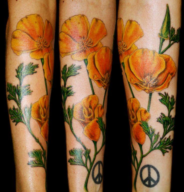 Love the flowers poppy flower tattoo poppies tattoo