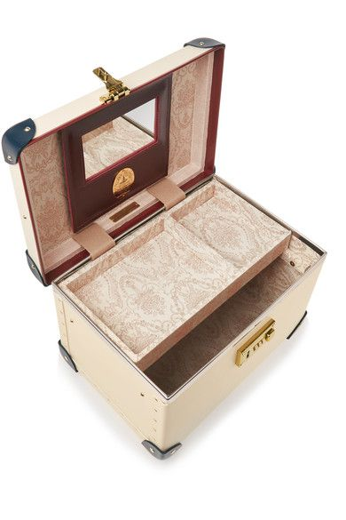 "Globe-Trotter - The Goring 13"" Leather-trimmed Fiberboard Vanity Case - Cream"