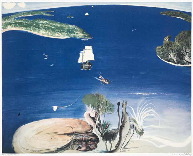 Brett Whiteley. THE ARRIVAL, 1988 | colour offset lithograph