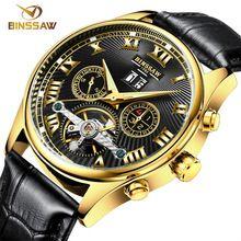BINSSAW new Men Luxury business watches Fashion self-wind Automatic Mechanical watch sports relogio masculino Strap Wristwatches(China (Mainland))