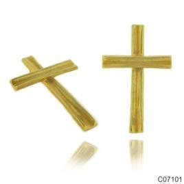 Σταυρός Κ14 από κίτρινο χρυσό. 21x29χιλ. #marizaart #greekart #art #greece