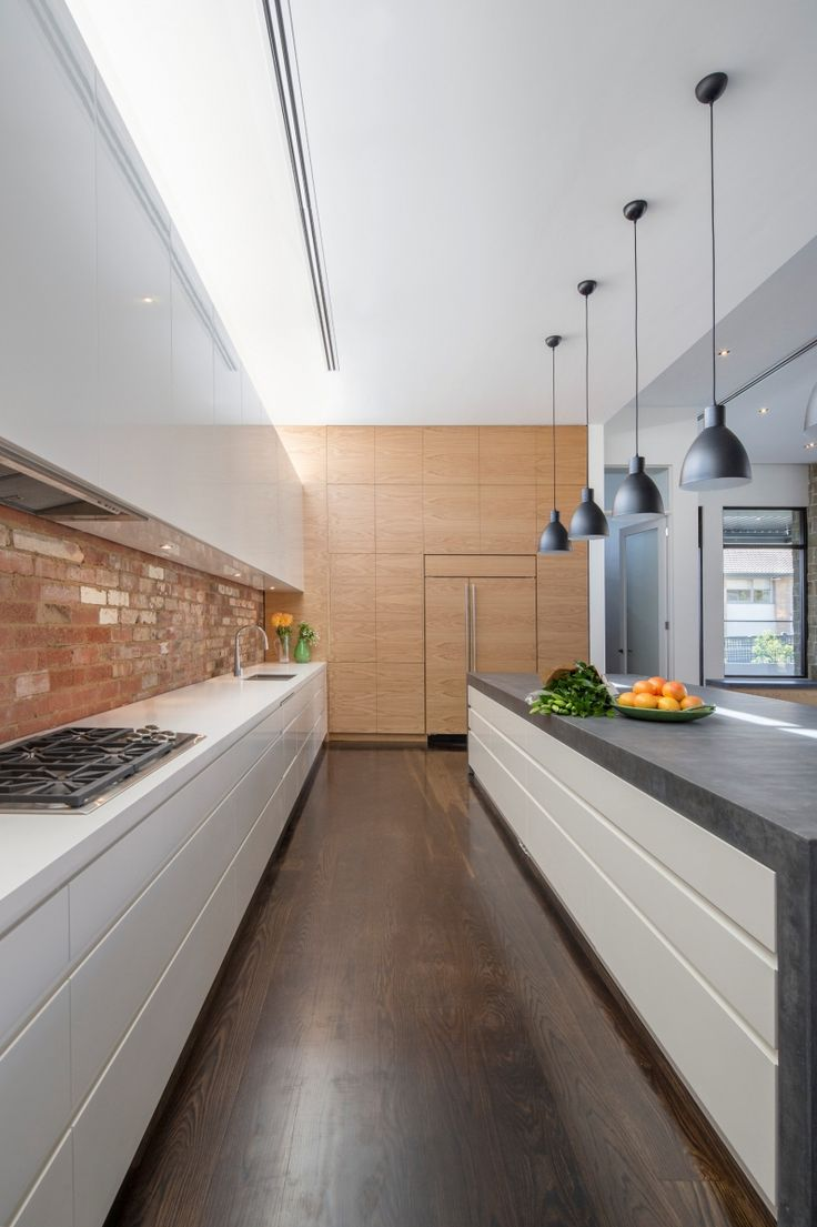 Hawthorn East renovation kitchen galley view
