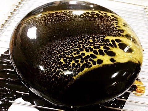 Chocolate Mirror Glaze Cake/Espejo de Chocolate Glaseado - YouTube