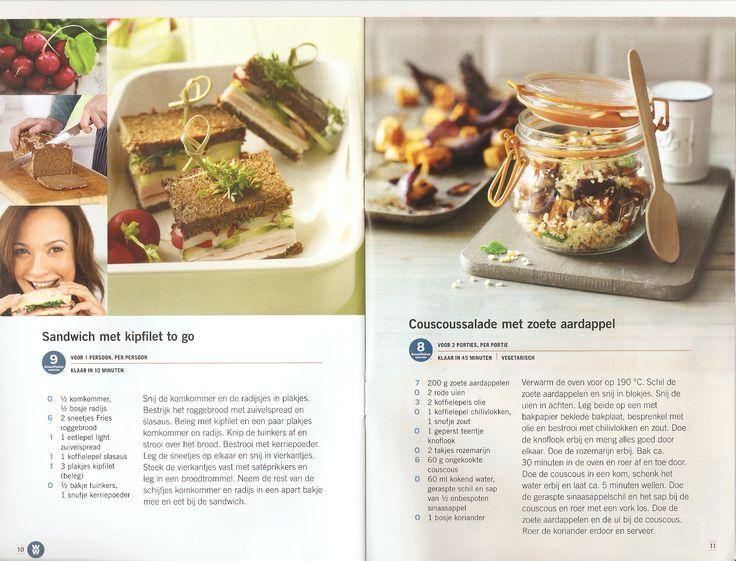 Weight Watchers - Sandwich met kipfilet to go // Couscoussalade met zoete aardappel