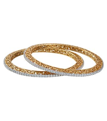 single line diamond bangles designs - Google Search