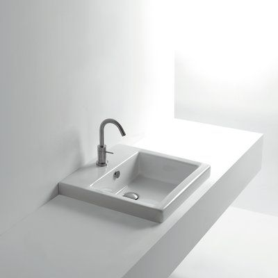 Ws Bath Collections Whitestone Ceramic Square Drop In Bathroom