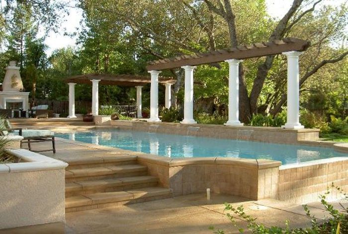 60 best colored concrete pool decks images on pinterest for Pool design omaha