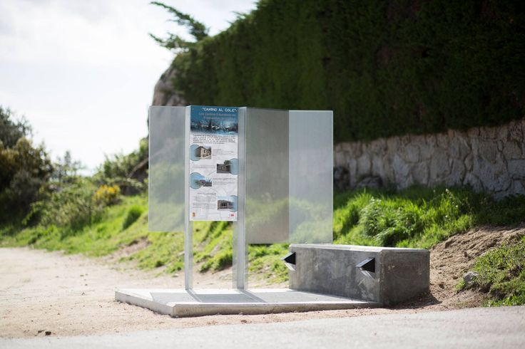 Diseño y construcción de Hito con panel informativo.