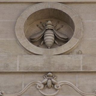 Would like this detail on a beekeepers home or apiary structures. Barberini Bee in Rome. The Barberini bees were incorporated into Bernini's Baldacchino in St. Peter's Basilica, The Vatican.