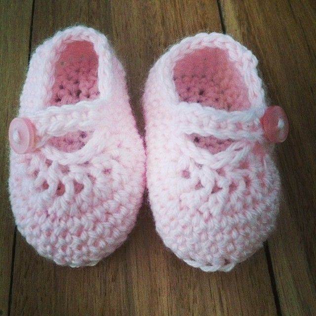 Photo taken by @madmarigolds on Instagram, pinned via the InstaPin iOS App! (10/17/2014)  Crochet Mary Janes booties baby girl pink