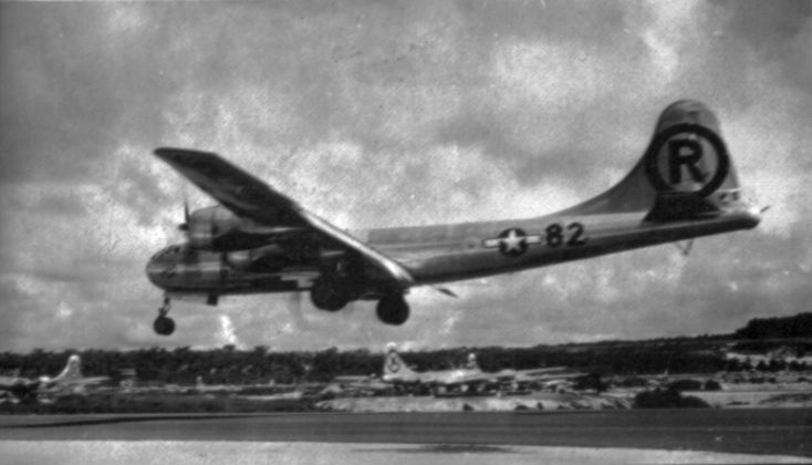 """August 6, 1945 the Enola Gay dropped """"Little Boy"""" the atomic bomb that destroyed Hiroshima, Japan and lead to the end of WWII."""