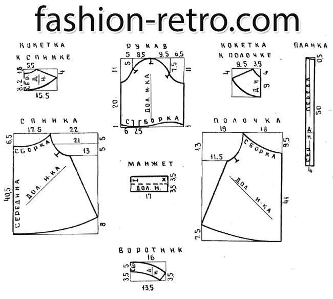Выкройка-схема в уменьшенном масштабе дана для 28 размера. Обхват груди 56 см. Расход ткани на детский халат 28 размера при ширине 80 см – 1,7 м. К основным срезам (боковым, плечевым, рукавным и т.д.) – не менее 1,5 см, к горловине – не менее 0,7-1 см, на подгибку низа 3-5 см.
