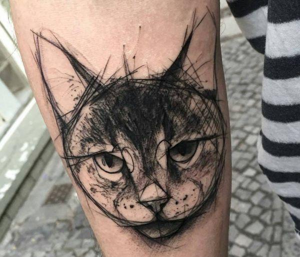 30 Katzen Tattoo Ideen mit Bedeutungen                                                                                                                                                                                 Mehr