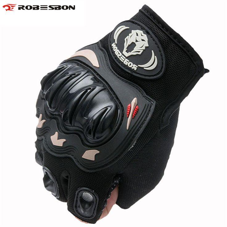 Robesbonハーフフィンガーナイト自転車手袋ゲルモトクロスミトンguantes ciclismoスポーツトレーニングluvaバイクサイクリング手袋