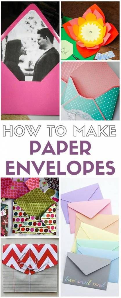 Don't buy envelopes for those special cards and invitations, make your own! A collection of templates and tutorials on how to make paper envelopes. Use them for sending snail mail, or for add…