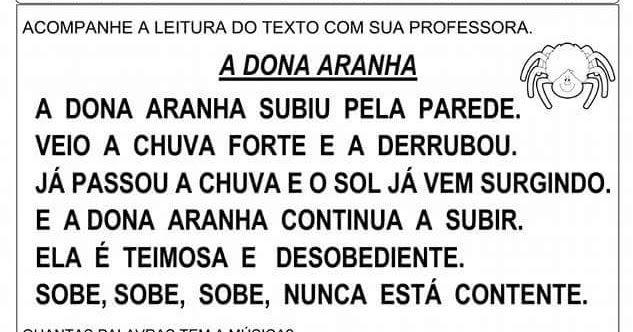 Imagem De Atividades Escolares Por Regina A Dona Aranha