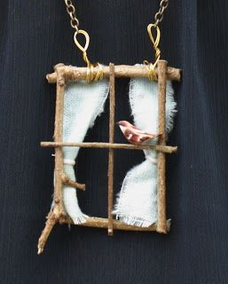 hearts and honey: DIY Window Necklace/// or a hanging window for a fairy garden!