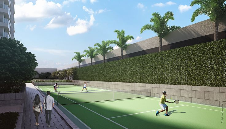Tennis court for you to relax and blow some steam after work at #RajTattva