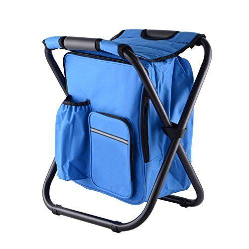 Folding Hocker Stuhl Rucksack mit Kühler isolierte Pic | 00882166028230