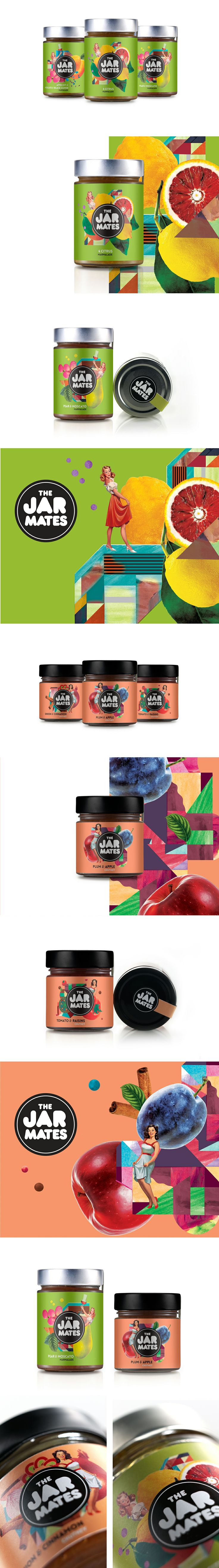 Retro JARMATES Marmalades & Chutney colorful #packaging PD
