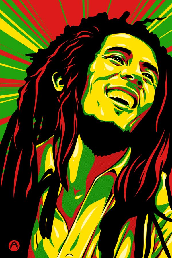 Bob Marley by Amando Aquino, via Behance