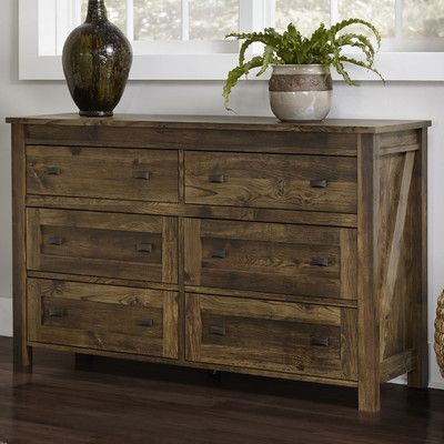 Features:  -Includes 6 roomy drawers for storing clothing and other personal belongings.  -Century barn pine finish influenced by aged barn wood that has spent a lifetime weathering the elements.  -Fi