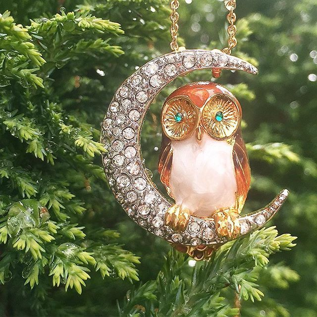 💥:: FLASH SALE | £10 :: 💥    Are you a fan of owls? Grab our stunning Owl & The Moon pendant down from £65 for just £10 in-store & online until Monday! 🦉🌙  .  .  .  #BillSkinner #owls #owlinthemoon #moon #swarovski #enamel #handpainted #enameljewelry #enameljewellery #owljewellery #owljewelry #moonjewellery #moonjewelry #stilllifephotography #brownowl #flashsale #jewellerylovers