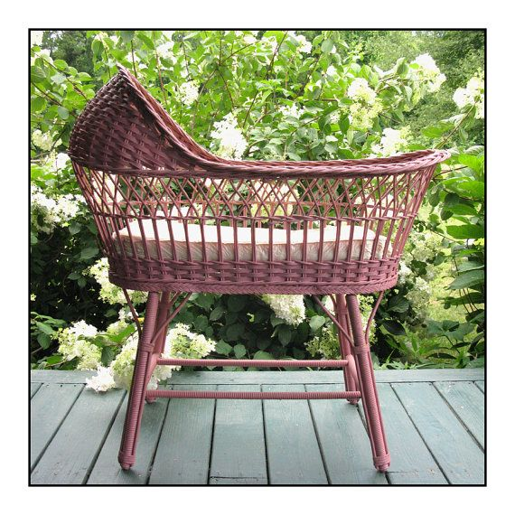 Antique Wicker Bassinet...so precious!! Would look great full of potted plants on the porch.