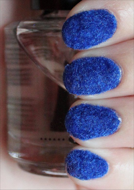 Blue Flocked Nails (Click through to read about my experience & application tips!)