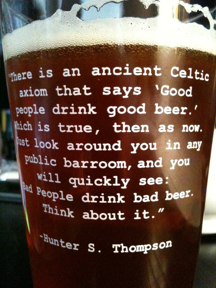 ... Huntersthompson, Hunters Thompson, Pints Glasses, Drinks, Beer Quotes