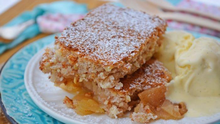 Gyors almás pite vanília fagyival